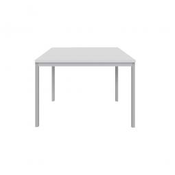 """Schreibtisch """"Classic"""", BxTxH 800x800x720 mm, Gestell lichtgrau, Dekor lichtgrau"""