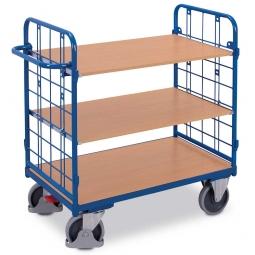 Etagenwagen mit 2 Wänden und 3 Böden, LxBxH 1385 x 820 x 1220 mm, Tragkraft 500 kg