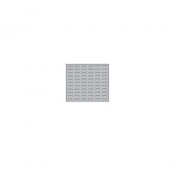 System-Schlitzplatte BxHxT 500x450x18 mm, Aus 1,25 mm Stahlblech, kunststoffbeschichtet in lichtgrau