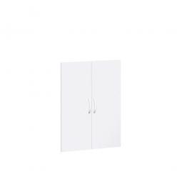 Flügeltüren FLEX für 3 Ordnerhöhen, weiß, Breite 800 mm, mit Metallscharnieren und Türdämpfern