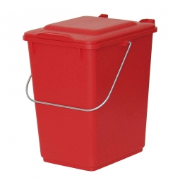 Vorsortierbehälter Inhalt 10 Liter, rot, HxBxT 310x225x275 mm, Polyethylen-Kunststoff (PE-HD)