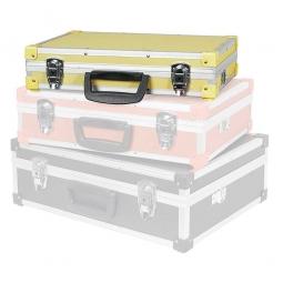 Alu-Koffer Größe M, gelb, LxBxH 400 x 250 x 90 mm, abschließbar