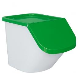Zutatenbehälter / Zutatenspender, 40 Liter, LxBxH 440 x 400 x 280 mm, weiß/grün