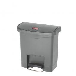Tretabfalleimer SlimJim, 15 Liter, LxBxH 380 x 230 x 400 mm, grau