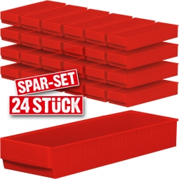 "Regalkasten-Set ""Profi"", 24-teilig, rot, LxBxH 500 x 183 x 81 mm, Polypropylen-Kunststoff (PP)"