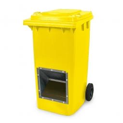 Streugutbehälter mit Entnahmeöffnung, 240 Liter, gelb, BxTxH 580 x 730 x 1075 mm