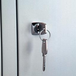 Zylinderschloss mit zwei Schlüsseln