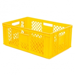 Bäckerkiste, LxBxH 600 x 400 x 240 mm, 43 Liter, gelb