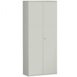 Garderobenschrank PRO, lichtgrau, BxTxH 1000x425x2304 mm, 7 Fachböden, 1 Kleiderstange