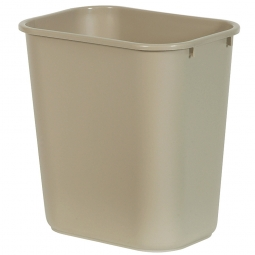 Papierkorb, 7,5 Liter, beige, BxTxH 250x170x260 mm