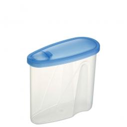 Lebensmitteldose mit Ausschüttöffnung, LxBxH 165 x 70 x 152 mm, 0,9 Liter
