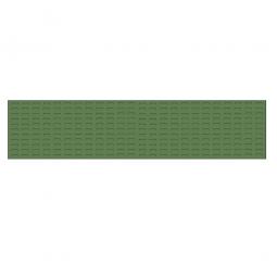 System-Schlitzplatte BxHxT 2000x450x18 mm, Aus 1,25 mm Stahlblech, kunststoffbeschichtet in resedagrün