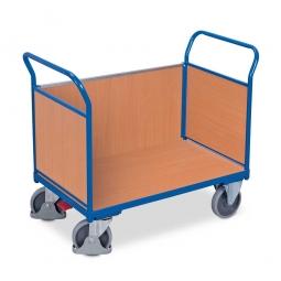 Dreiwandwagen mit Holzwänden, LxBxH 1030 x 500 x 950 mm, Tragkraft 400 kg