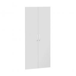 Flügeltüren FLEX für 5 Ordnerhöhen, lichtgrau, Breite 800 mm, mit Metallscharnieren und Türdämpfern