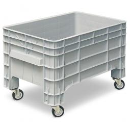 Volumenbox mit 4 Lenkrollen, 215 Liter, LxBxH 1030 x 630 x 675 mm, grau