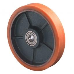 Polyurethanrad, Rad-ØxB 150x40 mm, Tragkraft 500 kg, rot