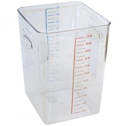 Platzsparbehälter, viereck, LxBxH 290 x 265 x 365mm, 22 Liter, glasklar