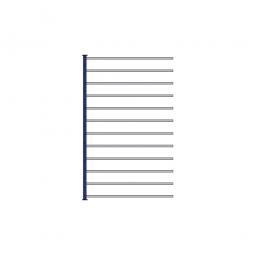 Fächer-Steck-Anbauregal, kunststoffbeschichtet, HxBxT 2000x1235x415 mm, mit 12 Fachböden