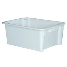 Drehstapelbehälter, LxBxH 800 x 600 x 330 mm, 110 Liter, weiß