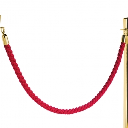 Nylon-Kordel rot, Endkappen aus Messing, Ø 30 mm, Länge 1500 mm