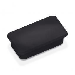 Haftmagnete, schwarz, eckig 23x50 mm, Haftkraft 1000 g, Paket=10 Magnete