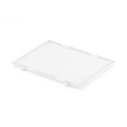 Scharnierdeckel für Euro-Stapelbehälter, LxB 400 x 300 mm, weiß