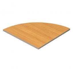 Verkettungsplatte, Viertelkreis, Buche, BxT 800x800 mm