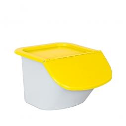 Zutatenbehälter / Zutatenspender, 15 Liter, LxBxH 440 x 400 x 280 mm, weiß/gelb