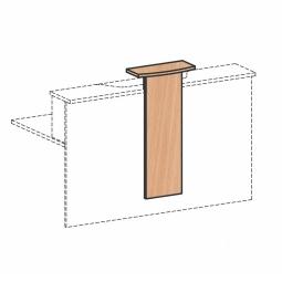 """Design-Aufsatz für Empfangstheke """"SUPERIOR"""", Buche, BxH 320/500x1012 mm"""