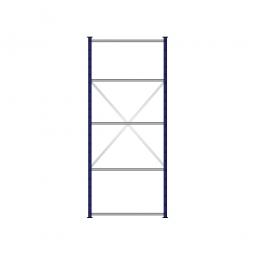 Fachbodenregal Flex mit 5 Fachböden, Stecksystem, kunststoffbeschichtet, BxTxH 1070 x 415 x 2500 mm, Tragkraft 100 kg/Boden