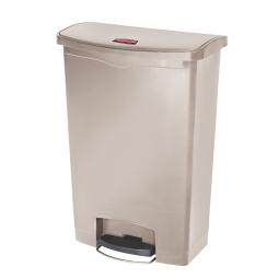 Tretabfalleimer SlimJim, 90 Liter, beige, BxTxH 570x353x826 mm, Polyethylen, Pedal an der Breitseite