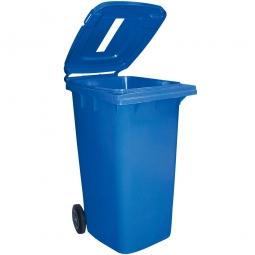 Müllbehälter mit Einwurfschlitz, BxTxH 580 x 740 x 1070 mm, 240 Liter, blau