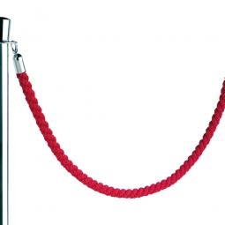 Nylon-Kordel rot, Endkappen verchromt, Ø 30 mm, Länge 1500 mm