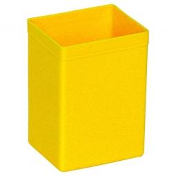Einsatzkasten für Stapelbehälter, LxBxH  94x73x122 mm, Polystyrol (PS) gelb