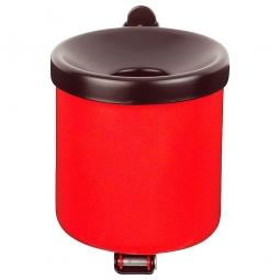 Sicherheits-Wandascher, Inhalt 0,6 Liter, ØxH 90x100 mm, Stahlblech, kunststoffbeschichtet, rot
