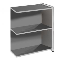 "Anbau-Sideboard ""FUTURE"" BxTxH 780 x 380 x 780 mm, anthrazit / Chrom"