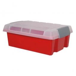 Deckel für leichte Drehstapelbehälter, transparent, LxBxH 475 x 370 x 70 mm, Polypropylen-Kunststoff (PP)