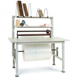 Komplett-Packtisch, lichtgrau, BxTxH 1500x800x760-870 mm