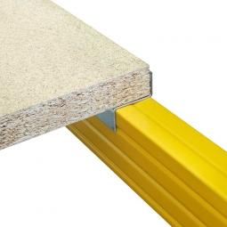 Holzboden aus Spanplatte V20 - E1, naturbelassen, Nutzmaß LxTxH 2270 x 795 x 38 mm, Tragkraft: 1239 kg