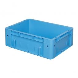Schwerlast-Eurobehälter, geschlossen, PP, LxBxH 400x300x120 mm, 9 Liter, 2 Griffleisten, blau