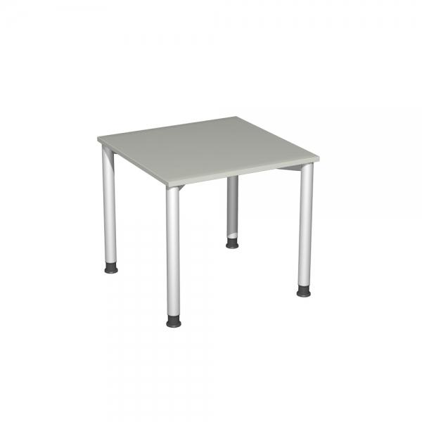 Schreibtisch Komfort Gestell Silber Dekor Lichtgrau Bxtxh