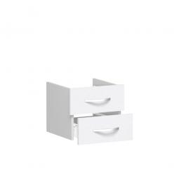 Schubladenset FLEX, weiß, Breite 400 mm, hochwertige Metallgriffe in silbermatt