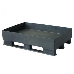 Sicherheits-Auffangwanne aus Kunststoff, schwarz, LxBxH 1200 x 800 x 315 mm, Tragkraft 1500 kg