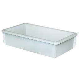 Kunststoffwanne mit umlaufendem U-Rand, 8 Liter, LxBxH 450 x 255 x 105 mm, weiß