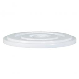 Deckel für Rundtonne, PE-HD, 100 Liter, weiß