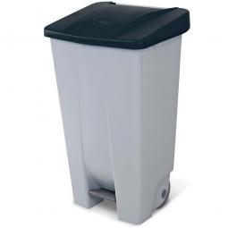Tret-Abfallbehälter mit Rollen, PP, BxTxH 510 x 430 x 880 mm, 120 Liter, grau/schwarz