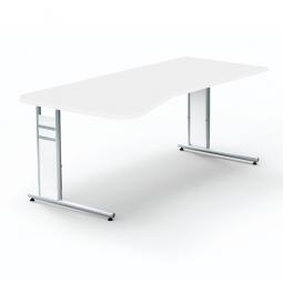 """Freiformtisch """"BUDGET"""" BxT 1950x800/1000 mm, Höhenverstellbar 680-820 mm, weiß"""