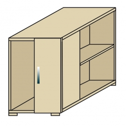 Anstellcontainer, Ahorn, BxTxH 550 x 800 x 720 mm