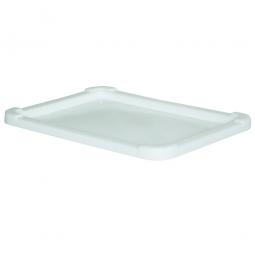 Stülpdeckel für Lebensmittel-Großbehälter, weiß, LxB 800x600 mm, Polyethylen-Kunststoff (PE-HD)
