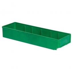 Regalkasten, grün, LxBxH 500x152x83 mm, Polystyrol-Kunststoff (PS), Gewicht 375 g